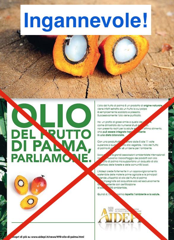 olio di palma pubblicità