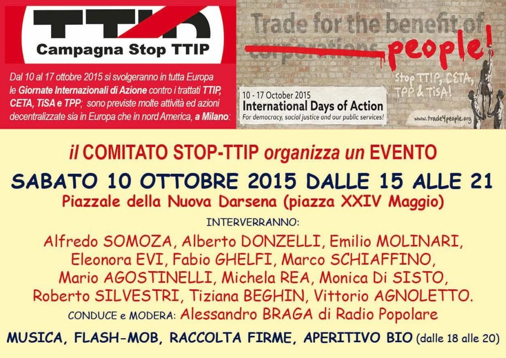 10 ottobre evento stop ttip