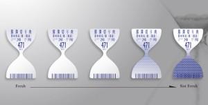 etichette intelligenti termica clessidra