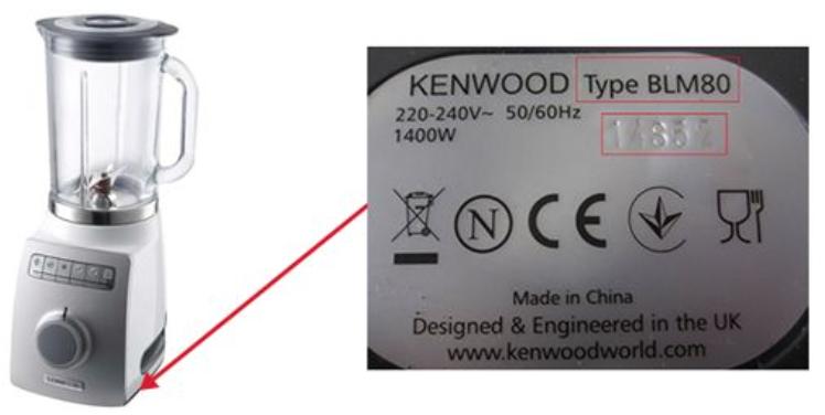 frullatore Blend-X Pro BLM80 kenwood codice