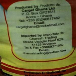 olio di palma zomi ritiro etichetta