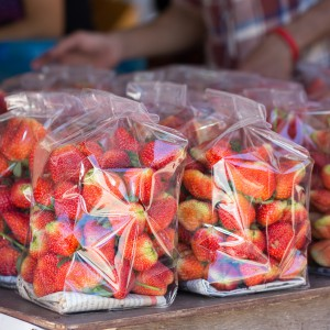 fragole packaging frutta plastica