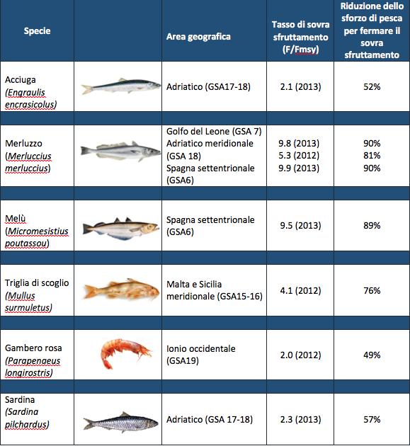 tabella pesci