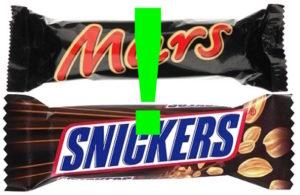 mars snickers ritiro