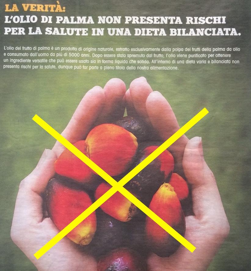 olio di palma pubblicita