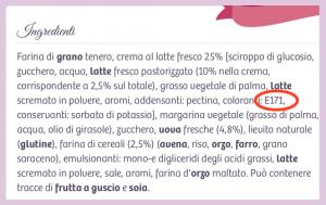 croissant bauli 5 cereali 2016 ingredienti Biossido di titanio