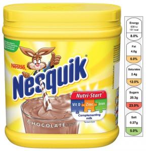 nesquik nutri-start semaforo etichetta