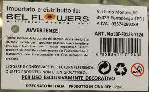 uva etichetta bel flowers