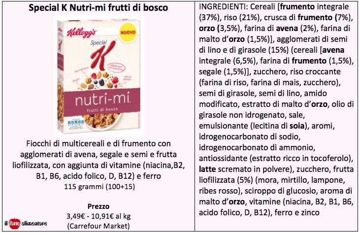 special k nutri mi frutti di bosco tab ingredienti