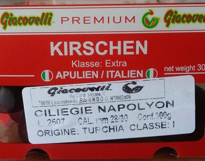 ciliegie simply origine turchia