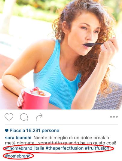 pubblicita yogurt instagram