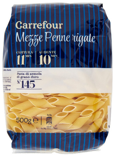 carrefour penne pasta 2018
