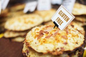 Gluten free food. Pizza