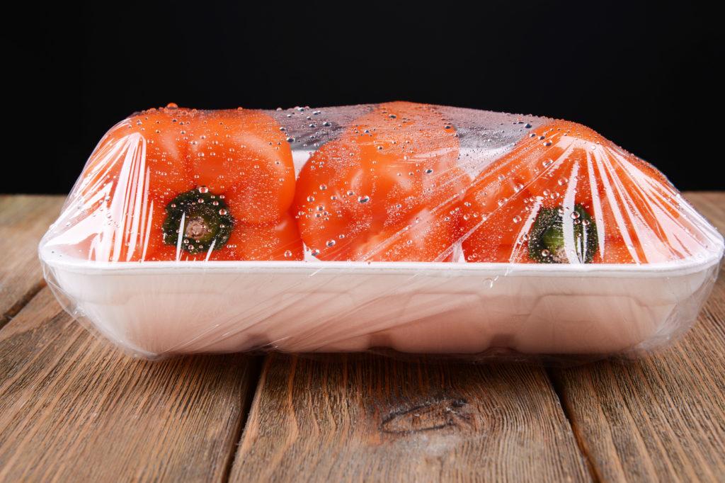 peperoni vaschetta pellicola per alimenti