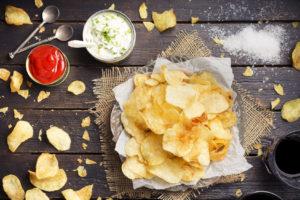 imballaggi patatine fritte snack