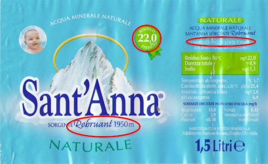 etichetta sant'anna