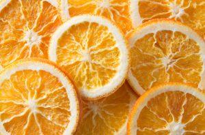 Dried orange slices background