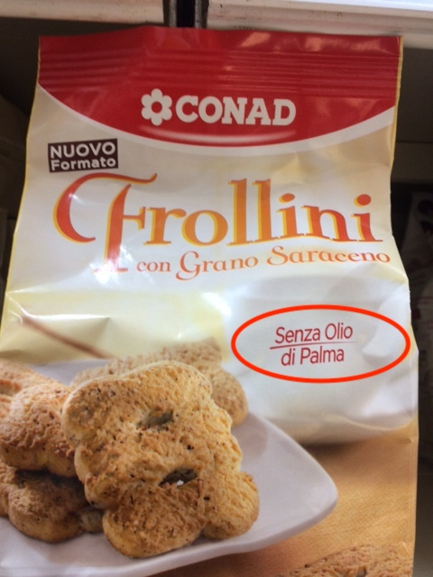 conad frollini con grano saraceno senza olio di palma