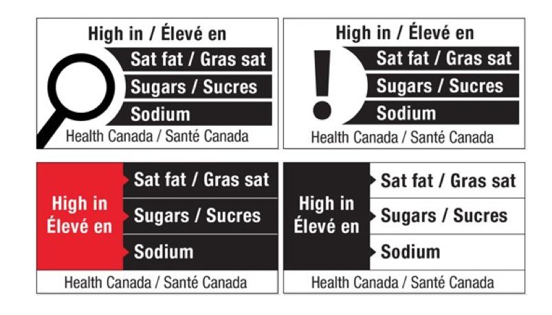 etichette nutrizionali semplificate canada