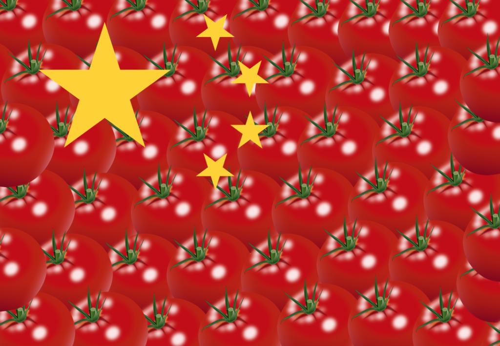 bandiera cinese pomodoro cina