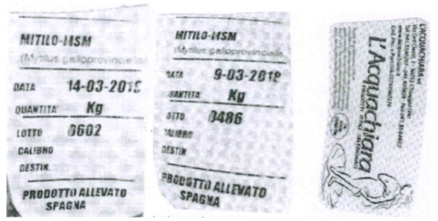 etichette cozze spagna