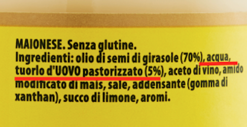 maionese calve ingredienti