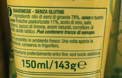 maionese coop ingredienti