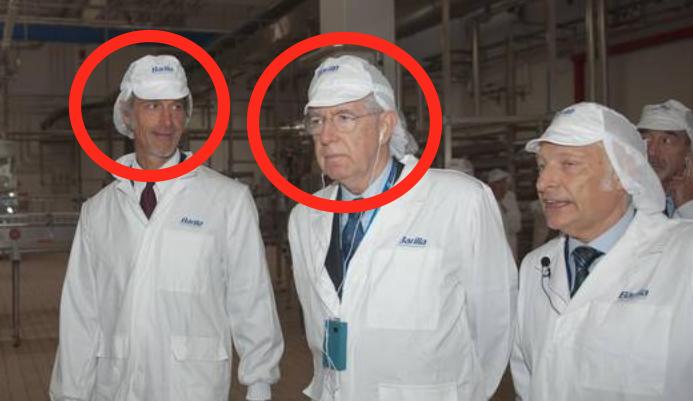 Paolo Barilla e Mario Monti inaugurazioen fabbrica di sughi