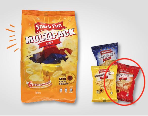 aldi patatine multipack snack fun