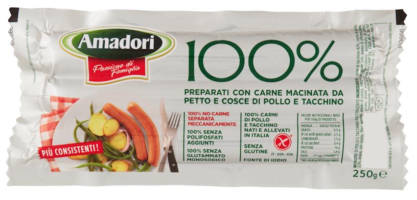 amadori 100% pollo tacchino wurstel