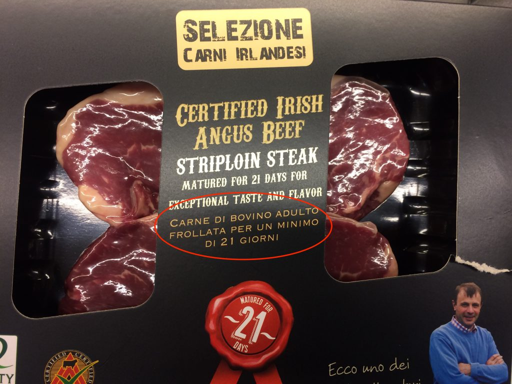 carne angus irlandese sottovuoto frollatura