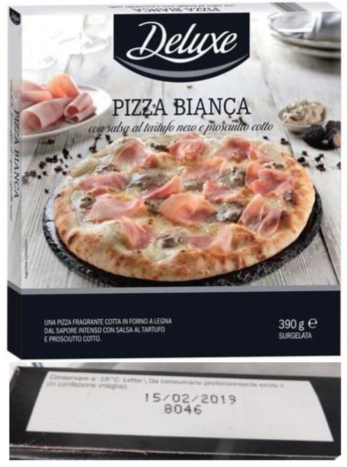 pizza bianca tartufo prosciutto cotto deluxe lidl