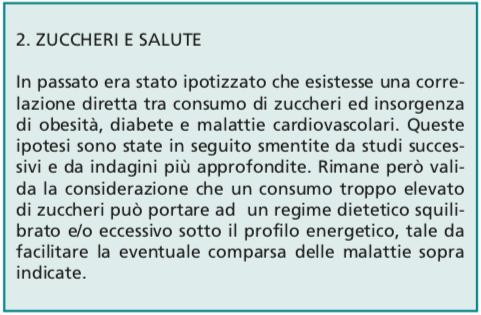 linee guida per una sana alimentazione degli italiani zuccheri