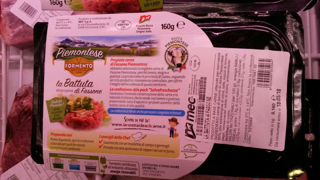 tartare bovino formento confezione retro